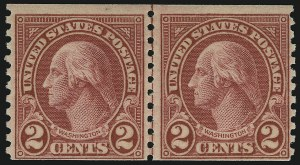 Sale Number 905, Lot Number 2795, 1922-25 Issue (Scott 551 to Later Issues)2c Carmine, Ty. II, Coil (599A), 2c Carmine, Ty. II, Coil (599A)