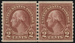Sale Number 905, Lot Number 2796, 1922-25 Issue (Scott 551 to Later Issues)2c Carmine, Ty. II, Coil (599A), 2c Carmine, Ty. II, Coil (599A)