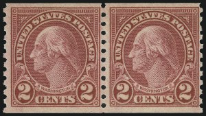 Sale Number 905, Lot Number 2797, 1922-25 Issue (Scott 551 to Later Issues)2c Carmine, Ty. II, Coil (599A), 2c Carmine, Ty. II, Coil (599A)