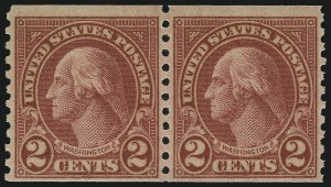 Sale Number 905, Lot Number 2798, 1922-25 Issue (Scott 551 to Later Issues)2c Carmine, Ty. II, Coil (599A), 2c Carmine, Ty. II, Coil (599A)