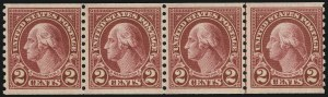 Sale Number 905, Lot Number 2799, 1922-25 Issue (Scott 551 to Later Issues)2c Carmine, Ty. II, Coil (599A), 2c Carmine, Ty. II, Coil (599A)