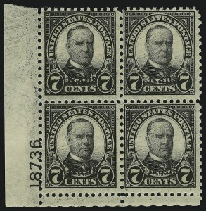 Sale Number 905, Lot Number 2818, 1922-25 Issue (Scott 551 to Later Issues)7c Kans. Ovpt. (665), 7c Kans. Ovpt. (665)