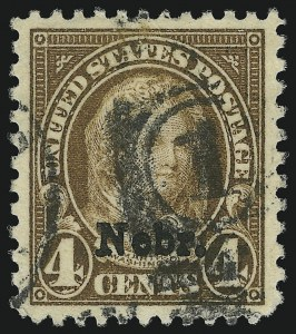 Sale Number 905, Lot Number 2820, 1922-25 Issue (Scott 551 to Later Issues)4c Nebr. Ovpt. (673), 4c Nebr. Ovpt. (673)