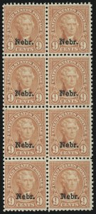 Sale Number 905, Lot Number 2822, 1922-25 Issue (Scott 551 to Later Issues)9c Nebr. Ovpt. (678), 9c Nebr. Ovpt. (678)