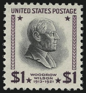Sale Number 905, Lot Number 2829, 1922-25 Issue (Scott 551 to Later Issues)$1.00 Presidential, USIR Wmk. (832b), $1.00 Presidential, USIR Wmk. (832b)
