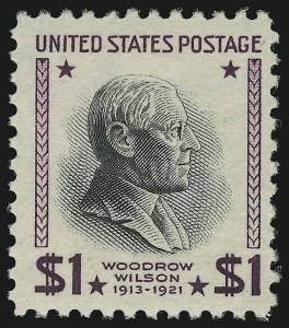 Sale Number 905, Lot Number 2830, 1922-25 Issue (Scott 551 to Later Issues)$1.00 Presidential, USIR Wmk. (832b), $1.00 Presidential, USIR Wmk. (832b)