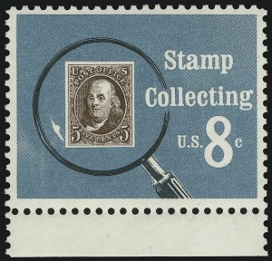 Sale Number 905, Lot Number 2834, 1922-25 Issue (Scott 551 to Later Issues)8c Stamp Collecting, Black (Litho.) Omitted (1474a), 8c Stamp Collecting, Black (Litho.) Omitted (1474a)