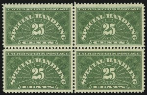 Sale Number 905, Lot Number 2970, Parcel Post25c Yellow Green, Special Handling (QE4), 25c Yellow Green, Special Handling (QE4)