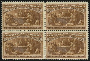 Sale Number 905, Lot Number 3020, Group by Issue1c-30c Columbian (230-239), 1c-30c Columbian (230-239)