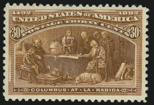 Sale Number 905, Lot Number 3025, Group by Issue1c-30c Columbian (230-234, 236-237, 239), 1c-30c Columbian (230-234, 236-237, 239)