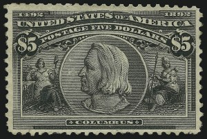 Sale Number 905, Lot Number 3028, Group by Issue$1.00-$5.00 Columbian (241-245), $1.00-$5.00 Columbian (241-245)
