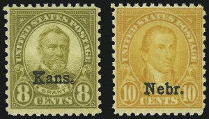 Sale Number 905, Lot Number 3127, Group by Issue1c-10c Kans., Nebr. Overprints (658-679), 1c-10c Kans., Nebr. Overprints (658-679)