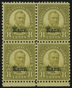 Sale Number 905, Lot Number 3129, Group by Issue1c-10c Kans. Overprint (658-668), 1c-10c Kans. Overprint (658-668)