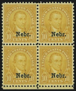 Sale Number 905, Lot Number 3132, Group by Issue1c-10c Nebr. Overprint (669-679), 1c-10c Nebr. Overprint (669-679)
