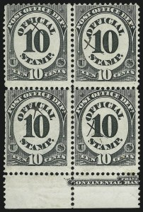 Sale Number 905, Lot Number 3245, Officials10c Post Office (O51), 10c Post Office (O51)