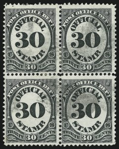 Sale Number 905, Lot Number 3249, Officials30c Post Office (O55), 30c Post Office (O55)