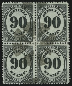 Sale Number 905, Lot Number 3251, Officials90c Post Office (O56), 90c Post Office (O56)