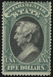 Sale Number 905, Lot Number 3259, Officials$5.00 State (O69), $5.00 State (O69)