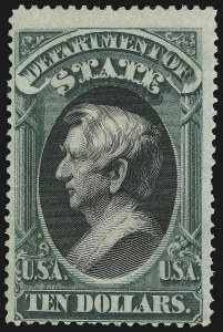 Sale Number 905, Lot Number 3260, Officials$10.00 State (O70), $10.00 State (O70)