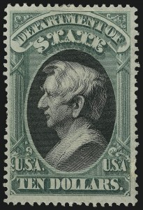Sale Number 905, Lot Number 3261, Officials$10.00 State (O70), $10.00 State (O70)