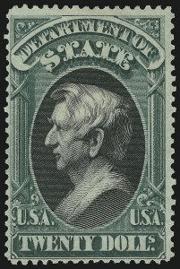 Sale Number 905, Lot Number 3262, Officials$20.00 State (O71), $20.00 State (O71)