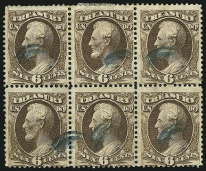 Sale Number 905, Lot Number 3265, Officials6c Treasury (O75), 6c Treasury (O75)