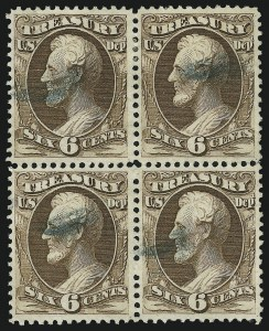 Sale Number 905, Lot Number 3266, Officials6c Treasury (O75), 6c Treasury (O75)