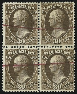 Sale Number 905, Lot Number 3276, Officials30c Treasury (O81), 30c Treasury (O81)