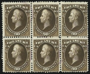 Sale Number 905, Lot Number 3277, Officials90c Treasury (O82), 90c Treasury (O82)