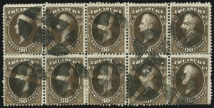 Sale Number 905, Lot Number 3278, Officials90c Treasury (O82), 90c Treasury (O82)