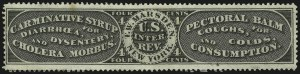 Sale Number 905, Lot Number 3693, Private Die Proprietary StampsT. W. Marsden, 4c Black, Old Paper (RS176a), T. W. Marsden, 4c Black, Old Paper (RS176a)