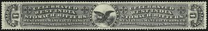 Sale Number 905, Lot Number 3711, Private Die Proprietary StampsWest India Manufacturing Co., 4c Black, Die I, Silk Paper (RS264b), West India Manufacturing Co., 4c Black, Die I, Silk Paper (RS264b)