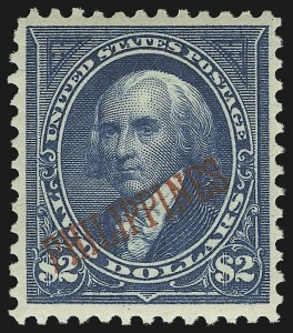 Sale Number 905, Lot Number 3840, Philippines1901, $2.00 Dark Blue (224), 1901, $2.00 Dark Blue (224)