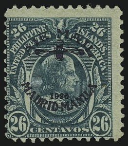 Sale Number 905, Lot Number 3858, Philippines1926, 26c Blue Green, Wmk. PIPS, Perf 12 (C16), 1926, 26c Blue Green, Wmk. PIPS, Perf 12 (C16)