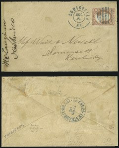 Sale Number 907, Lot Number 2527, Express Company UsagesAmerican Letter Ex. Co., Louisville Ky, 307 Green, American Letter Ex. Co., Louisville Ky, 307 Green