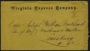 Sale Number 907, Lot Number 2533, Express Company UsagesVirginia Express Company, Virginia Express Company