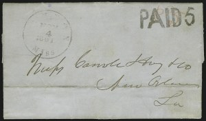 Sale Number 907, Lot Number 2568, Confederate Handstamped Paid and Due MarkingsCanton Miss. Nov. 4, 1861, Canton Miss. Nov. 4, 1861