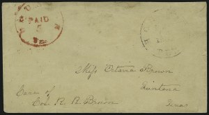 Sale Number 907, Lot Number 2664, Postmasters` ProvisionalsHouston Tex., 5c Red entire (40XU1), Houston Tex., 5c Red entire (40XU1)