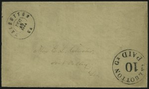 Sale Number 907, Lot Number 2765, Postmasters` ProvisionalsTalbotton Ga., 10c Black entire (94XU2), Talbotton Ga., 10c Black entire (94XU2)