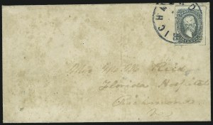 Sale Number 907, Lot Number 2905, General Issues On-Cover (Nos. 9 and 10)10c Blue, Frameline (10), 10c Blue, Frameline (10)