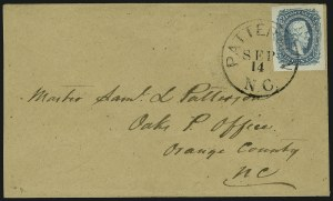 Sale Number 907, Lot Number 2908, General Issues On-Cover (Nos. 11-12)10c Blue, Die A (11), 10c Blue, Die A (11)