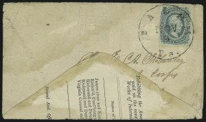 Sale Number 907, Lot Number 2911, General Issues On-Cover (Nos. 11-12)10c Blue, Die A (11), 10c Blue, Die A (11)