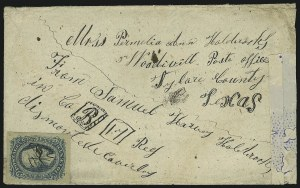 Sale Number 907, Lot Number 2913, General Issues On-Cover (Nos. 11-12)10c Blue, Die A (11), 10c Blue, Die A (11)