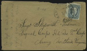 Sale Number 907, Lot Number 2914, General Issues On-Cover (Nos. 11-12)10c Blue, Die A (11), 10c Blue, Die A (11)