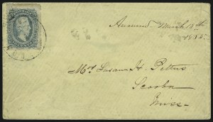 Sale Number 907, Lot Number 2915, General Issues On-Cover (Nos. 11-12)10c Blue, Die A, Perforated (11e), 10c Blue, Die A, Perforated (11e)