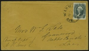 Sale Number 907, Lot Number 2928, General Issues On-Cover (No. 13, Balance)20c Green (13), 20c Green (13)