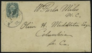Sale Number 907, Lot Number 2930, General Issues On-Cover (No. 13, Balance)20c Green (13), 20c Green (13)
