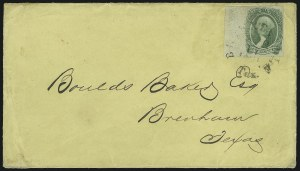 Sale Number 907, Lot Number 2931, General Issues On-Cover (No. 13, Balance)20c Green (13), 20c Green (13)