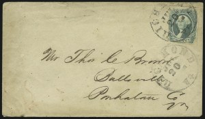 Sale Number 907, Lot Number 2932, General Issues On-Cover (No. 13, Balance)20c Green (13), 20c Green (13)
