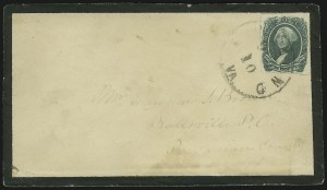Sale Number 907, Lot Number 2933, General Issues On-Cover (No. 13, Balance)20c Green (13), 20c Green (13)